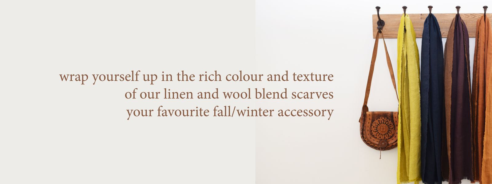 Puffin Gear Linen Wool Fringed Scarf - Fall - Winter - Made in Canada