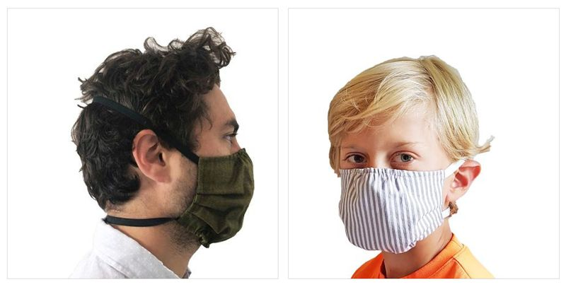 Three Layer Masks with Spunbond Polypropylene Filter Layer Made in Canada by Puffin Gear-Comfortable Around the Head Bands Prevent Ear Irritation - Machine Washable - Child and Adult Sizing in Beautiful Prints and Solids