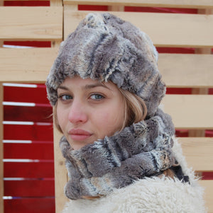 Puffin Gear Lodge Faux Fur Toque and Neck Warmer - Made in Canada