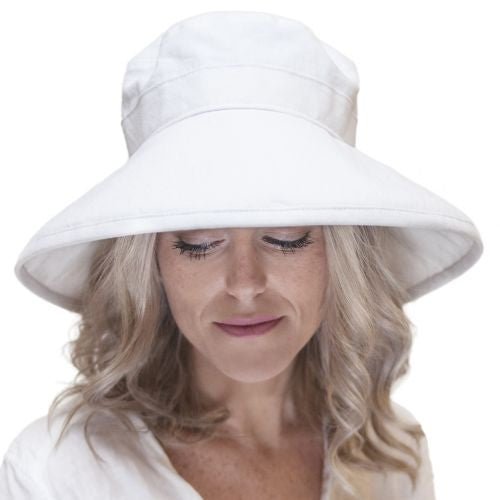 Puffin Gear Lady's Clothesline Linen Classic Hat - UPF50+ Sun Protection - Made in Canada