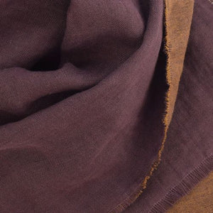 Puffin Gear Linen Wool Fall Winter Fringed Scarf Made in Canada-Aubergine