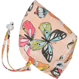 Puffin Gear UPF50 Sun Protection Infant and Toddler Bonnet SALE-Butterfly Coral