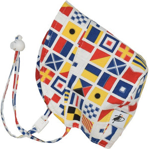 Puffin Gear UPF50 Sun Protection Infant and Toddler Bonnet SALE-Sailing Flags