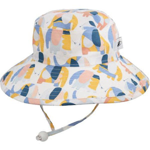 Puffin Gear Child UPF50 Sun Protection Wide Brim Sunbaby Hat-Elephant