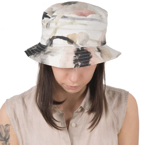 Puffin Gear Courtyard Garden Bloom Linen Bucket Hat-UPF50 Sun Protection-Made in Canada