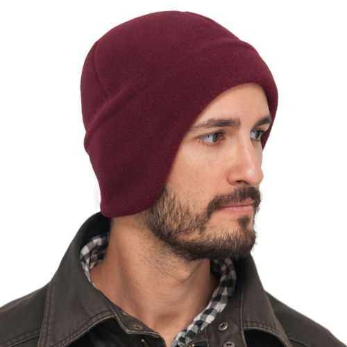 Puffin Gear Polartec Classic 200 Fleece Blizzard Hat-Canada and US-Maroon