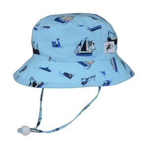 Puffin Gear Child UPF50+ Sun Protection Camp Bucket Hat-Made in Canada-Fleet