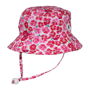 Puffin Gear Child UPF50+ Sun Protection Camp Bucket Hat-Made in Canada-Flower Crush