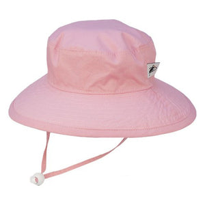 Puffin Gear Organic Cotton UPF50+ Sun Protection Wide Brim Child Sunbaby Hat-Pink