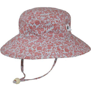 Puffin Gear Child UPF50 Sun Protection Wide Brim Sunbaby Hat-Liberty of London Trellis Vine Denim
