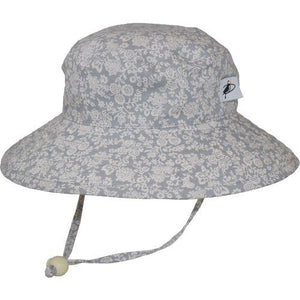 Puffin Gear Child UPF50 Sun Protection Wide Brim Sunbaby Hat-Liberty of London Trellis Vine Grey