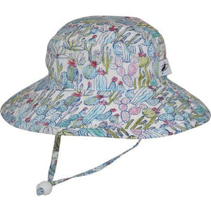 Puffin Gear Child UPF50 Sun Protection Wide Brim Sunbaby Hat-Cactus