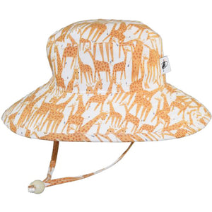 Puffin Gear Child UPF50 Sun Protection Wide Brim Sunbaby Hat-Giraffe