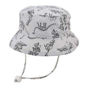 Puffin Gear Child UPF50+ Sun Protection Camp Bucket Hat-Made in Canada-Dinosaurs