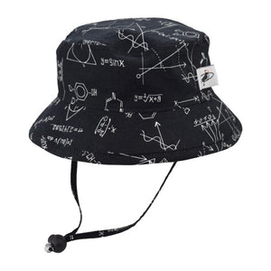 Puffin Gear Child UPF50+ Sun Protection Camp Bucket Hat-Made in Canada-I Love Science-Chalkboard