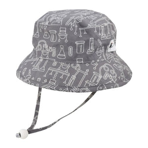 Puffin Gear Child UPF50+ Sun Protection Camp Bucket Hat-Made in Canada-I Love Science-Lab
