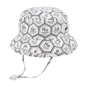 Puffin Gear Child UPF50+ Sun Protection Camp Bucket Hat-Made in Canada-I Love Science-Periodic Table
