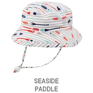 Puffin Gear Child UPF50+ Sun Protection Camp Bucket Hat-Made in Canada-Paddle