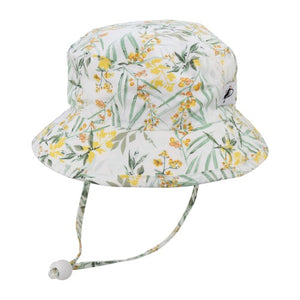 Puffin Gear Child UPF50+ Sun Protection Camp Bucket Hat-Made in Canada-Pollinator Garden
