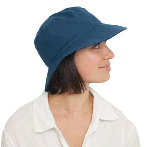 Puffin Gear UPF50 Sun Protection Clothesline Linen Crusher Hat-Made in Canada-Navy