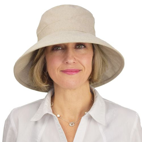 Clothesline Linen Sun Protection Garden Hat