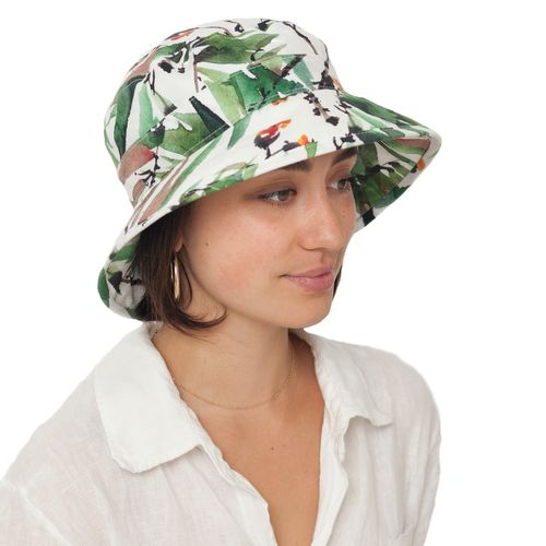 Puffin Gear Courtyard Garden Linen Bowler Hat with UPF50+ Sun Protection Rating-Made in Canada-Tropical
