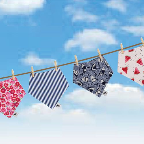 Cotton Drool Bibs Clearance