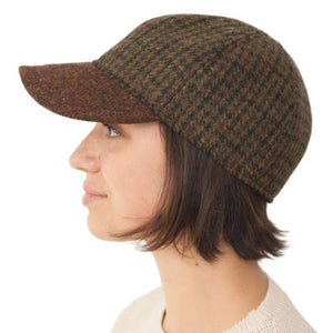 Puffin Gear Harris Tweed Wool Ball Cap-Made in Canada-Moor Check