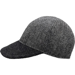 Puffin Gear Harris Tweed Wool Ball Cap-Made in Canada-Outcrop Herringbone