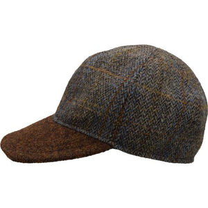 Puffin Gear Harris Tweed Wool Ball Cap-Made in Canada-Peat Herringbone