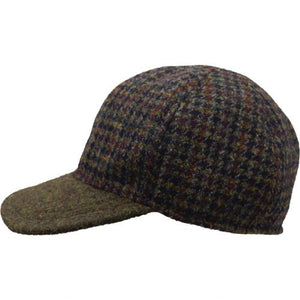 Puffin Gear Harris Tweed Wool Ball Cap-Made in Canada-Seaweed Check