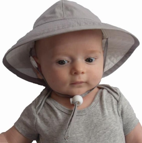 Puffin Gear Infant Organic Cotton UPF50+ Sun Protection Sunbeam Hat-Grey