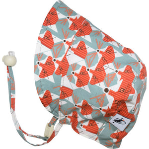 Puffin Gear Organic Cotton Infant and Toddler UPF50 Sun Protection Bonnet-Made in Canada-Charlie Harper-Fox