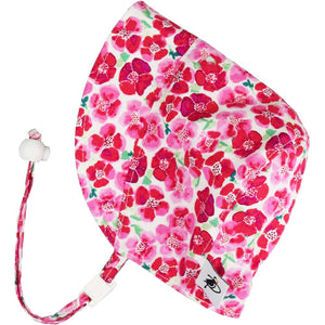 Puffin Gear UPF50+ Sun Protection Infant and Toddler Bonnet-Made in Canada-Summer-Flower Crush