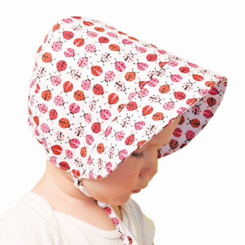 Puffin Gear UPF50 Sun Protection Infant and Toddler Bonnet SALE-Ladybug