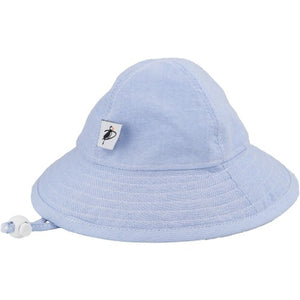 Puffin Gear Oxford Cotton UPF50+ Sun Protection Sunbeam Hat-Blue