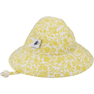 Puffin Gear Infant Cotton UPF50+ Sun Protection Sunbeam Hat-Liberty of London Gold Trellis Vine