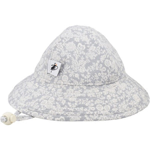 Puffin Gear Infant Cotton UPF50+ Sun Protection Sunbeam Hat-Liberty of London Grey Trellis Vine