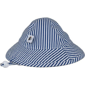 Puffin Gear Infant Cotton UPF50+ Sun Protection Sunbeam Hat-Natty Blue Stripe