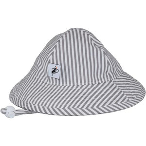 Puffin Gear Infant Cotton UPF50+ Sun Protection Sunbeam Hat-Natty Grey Stripe