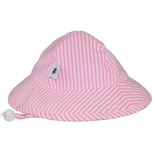 Puffin Gear Infant Cotton UPF50+ Sun Protection Sunbeam Hat-Pink Stripe