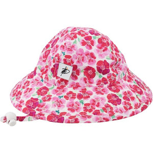 Puffin Gear Infant Cotton UPF50+ Sun Protection Sunbeam Hat-Flower Crush