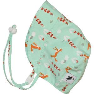 Puffin Gear Organic Cotton Infant and Toddler UPF50 Sun Protection Bonnet-Made in Canada-Foxglove