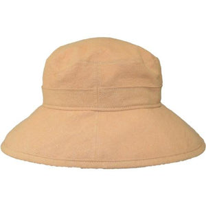 Puffin Gear Linen Canvas UPF50 Sun Protection Garden Hat-Ochre