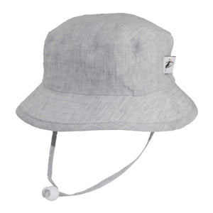 Puffin Gear Summer Day Linen UPF50+ Sun Protection Child Camp Hat-Grey