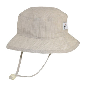 Puffin Gear Summer Day Linen UPF50+ Sun Protection Child Camp Hat-Natural