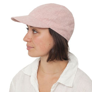 Puffin Gear Linen Canvas UPF50 Sun Protection Ball Cap-Made in Canada-Berry