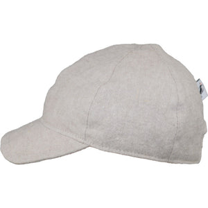 Child and Toddler UPF50+ Linen Ball Cap Made in Canada by Puffin Gear-Flax