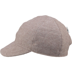 Child and Toddler UPF50+ Linen Ball Cap Made in Canada by Puffin Gear-Mocha