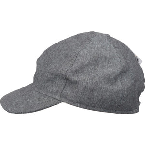 Child and Toddler UPF50+ Linen Ball Cap Made in Canada by Puffin Gear-Black